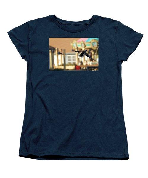Mallard Duck And Carousel Women's T-Shirt (Standard Cut) by Geraldine Scull