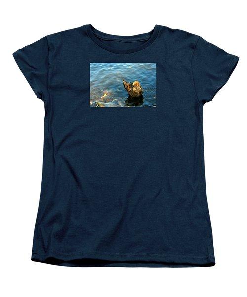 Mallard Duck In The Fox River Women's T-Shirt (Standard Cut)