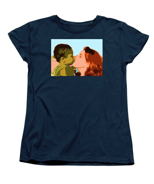 Mama And Me Women's T-Shirt (Standard Cut) by Josy Cue