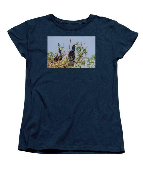 Mama, Papa And Kids - Danube Delta Women's T-Shirt (Standard Cut) by Jivko Nakev