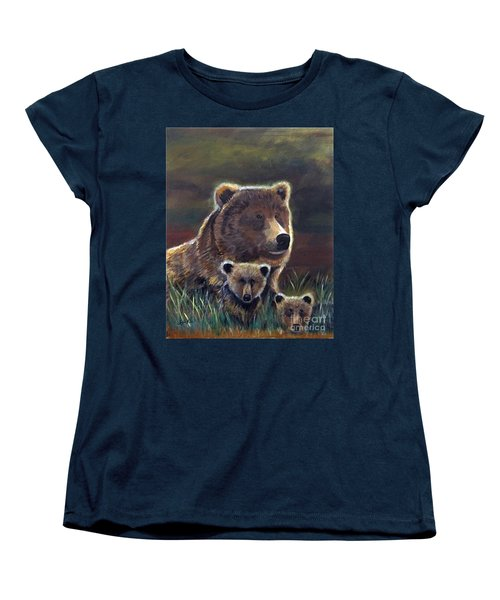 Women's T-Shirt (Standard Cut) featuring the painting Mammas Warmth by Leslie Allen