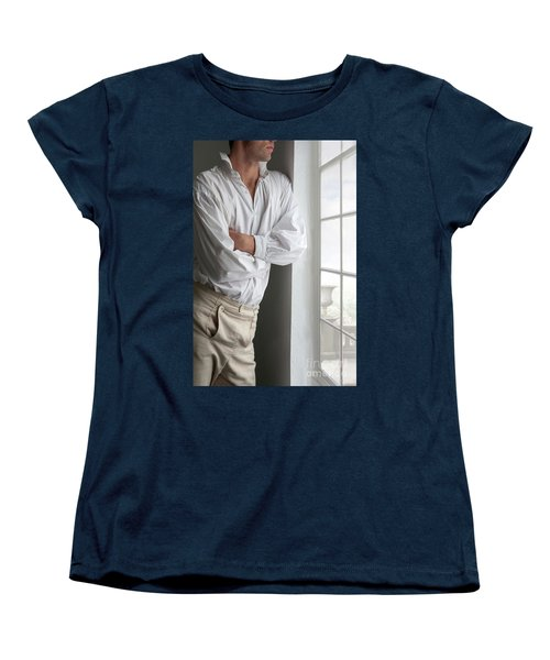 Man In Historical Shirt And Breeches Women's T-Shirt (Standard Cut) by Lee Avison
