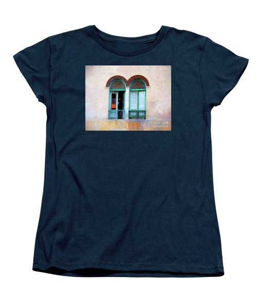 Women's T-Shirt (Standard Cut) featuring the mixed media Man In The Shadows by Jim  Hatch