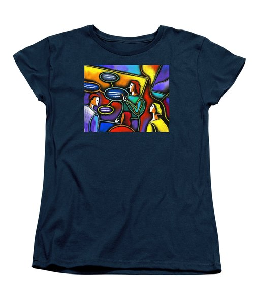 Women's T-Shirt (Standard Cut) featuring the painting Manager  by Leon Zernitsky