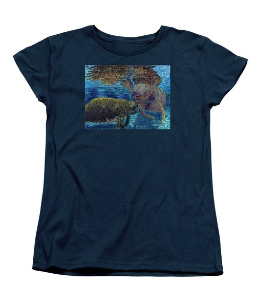 Manatee Motherhood Women's T-Shirt (Standard Cut) by David Joyner
