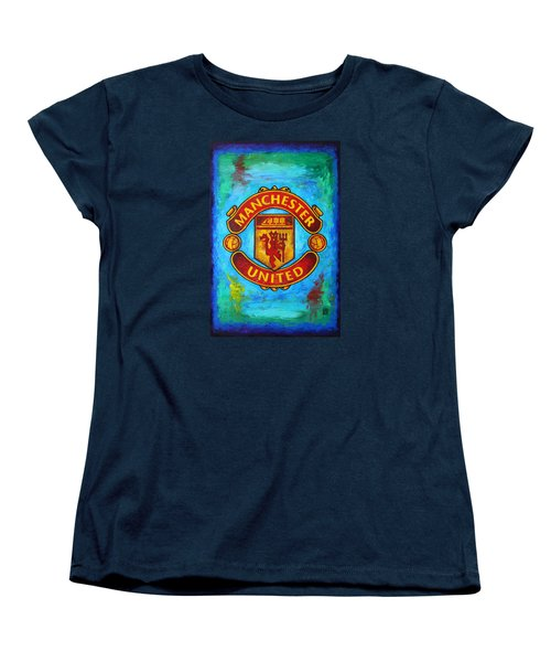 Manchester United Vintage Women's T-Shirt (Standard Cut) by Dan Haraga