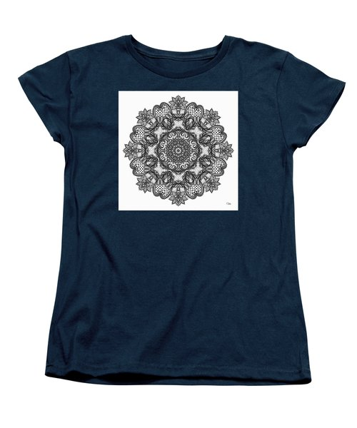 Mandala To Color 2 Women's T-Shirt (Standard Cut) by Mo T