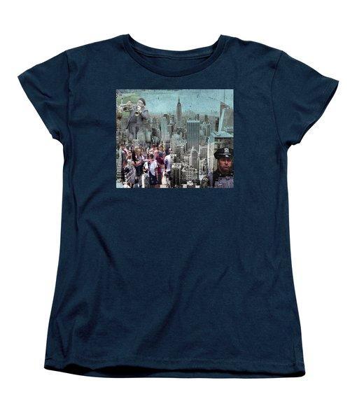 Manhattan Women's T-Shirt (Standard Cut) by Judi Saunders