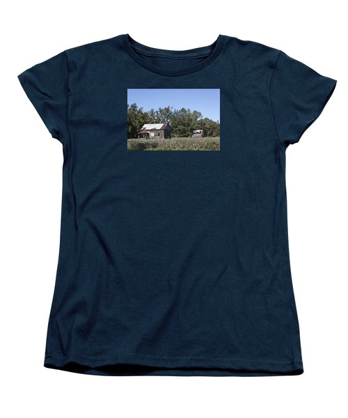 Manning Cotton Field With Barns Women's T-Shirt (Standard Cut) by Suzanne Gaff