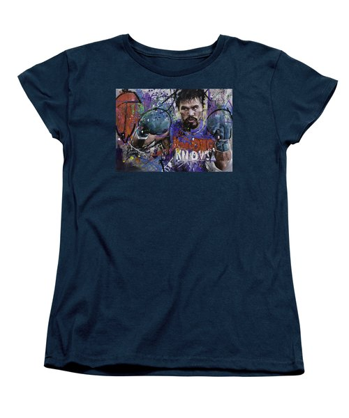 Manny Pacquiao Women's T-Shirt (Standard Cut) by Richard Day
