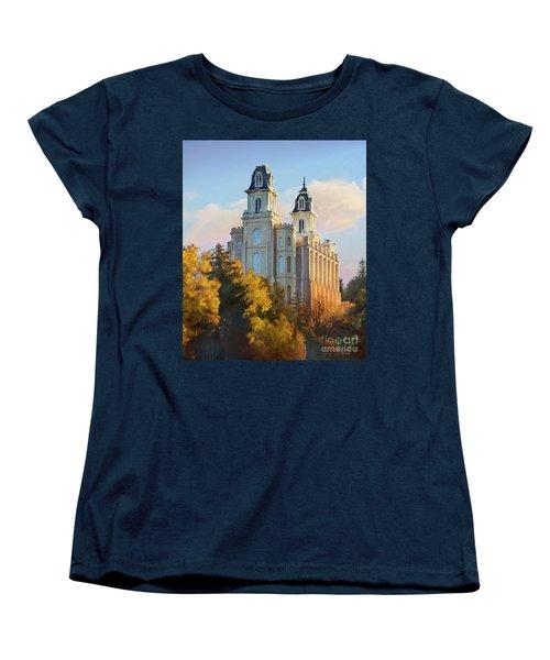 Manti Temple Tall Women's T-Shirt (Standard Cut) by Rob Corsetti