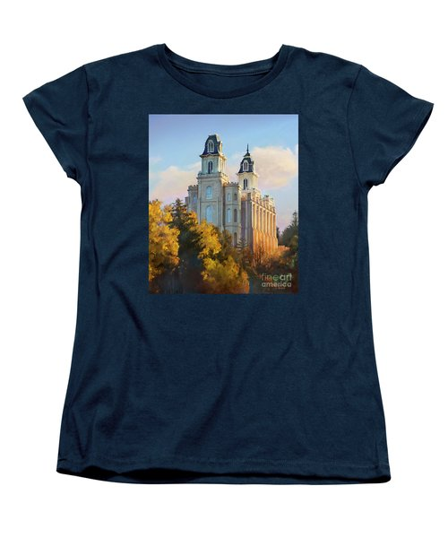 Manti Temple Tall Women's T-Shirt (Standard Cut)