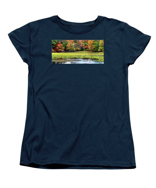 Many Colors Of Autumn Women's T-Shirt (Standard Cut) by Mikki Cucuzzo