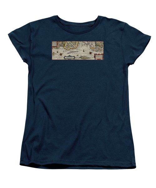 Map Of Sweden 1606 Women's T-Shirt (Standard Cut) by Andrew Fare