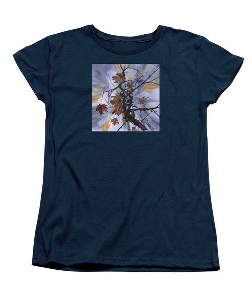 Maple Autumn Splash Women's T-Shirt (Standard Cut) by Carolyn Doe