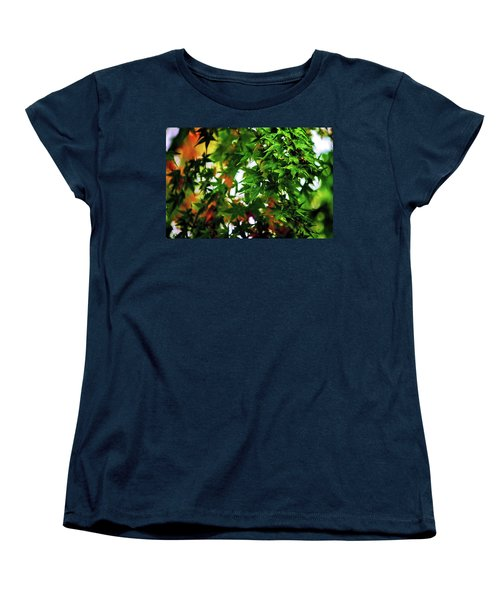Maple In The Mist Women's T-Shirt (Standard Cut) by Mark Lucey