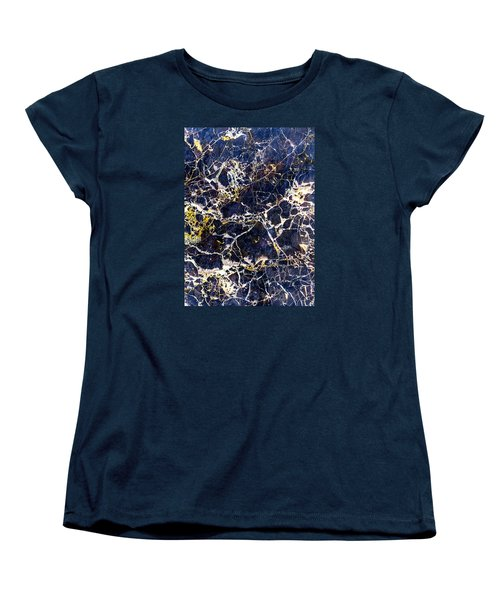 Marble Stone Texture Wall Tile Women's T-Shirt (Standard Cut) by John Williams