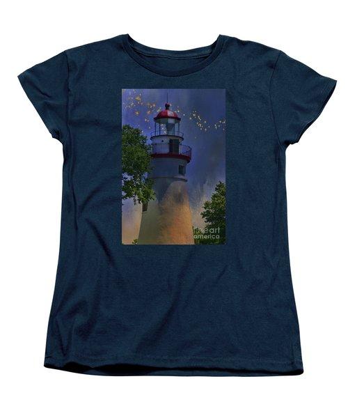 Marblehead In Starlight Women's T-Shirt (Standard Cut) by Joan Bertucci