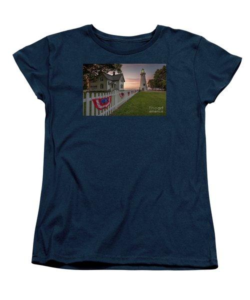 Marblehead Memorial  Women's T-Shirt (Standard Cut) by James Dean