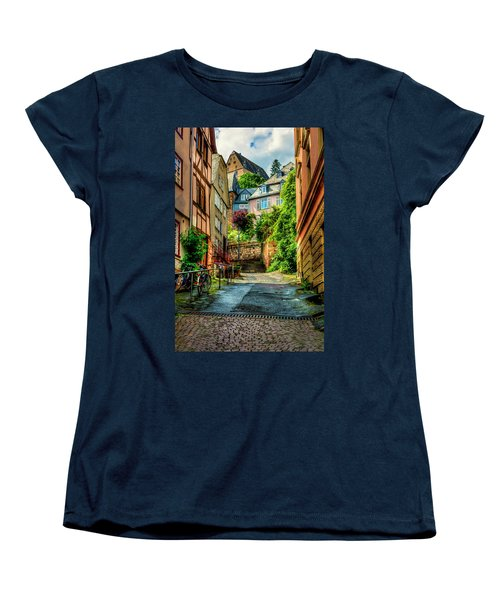 Women's T-Shirt (Standard Cut) featuring the photograph Marburg Alley by David Morefield