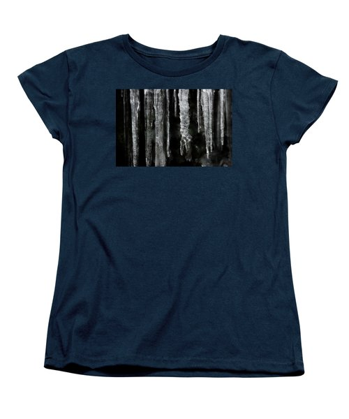 Women's T-Shirt (Standard Cut) featuring the photograph March Icicles by Mike Eingle