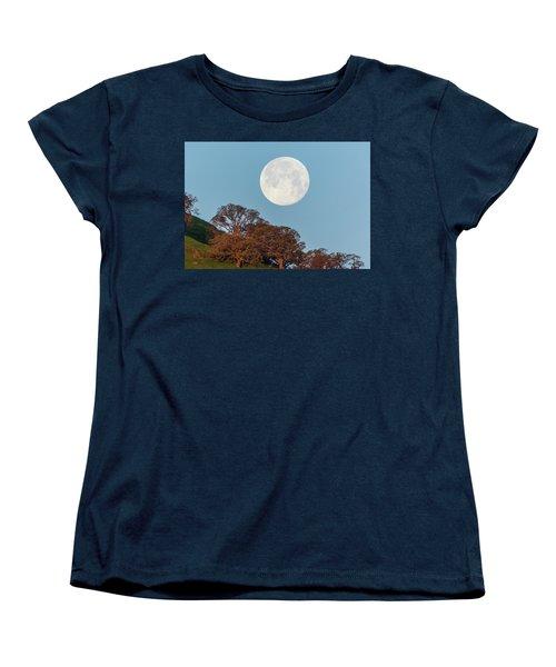 Women's T-Shirt (Standard Cut) featuring the photograph March Moonset by Marc Crumpler