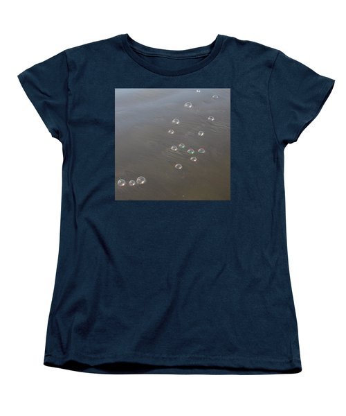 Women's T-Shirt (Standard Cut) featuring the photograph March Of The Bubbles by Marie Neder