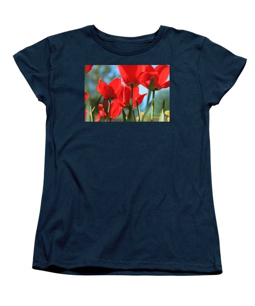 March Tulips Women's T-Shirt (Standard Cut) by Jeanette French