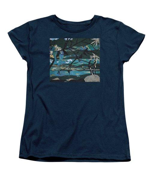 Mardi Gras Macaws Carnival Through A Birdseye View  Women's T-Shirt (Standard Cut) by Robin Miller-Bookhout