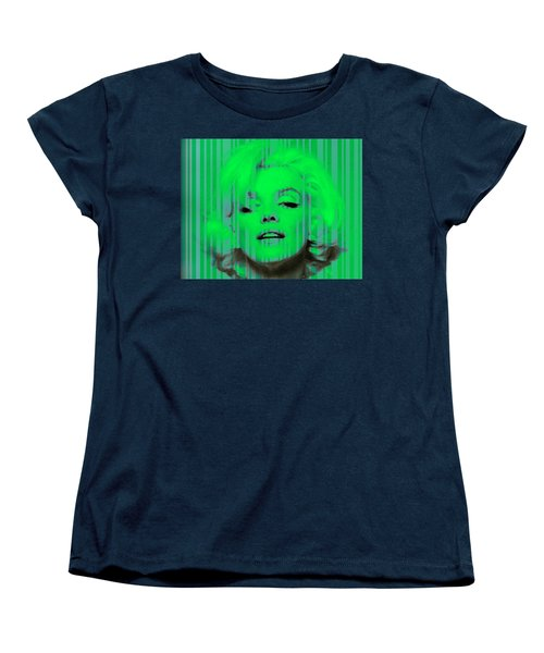 Marilyn Monroe In Green Women's T-Shirt (Standard Cut) by Kim Gauge