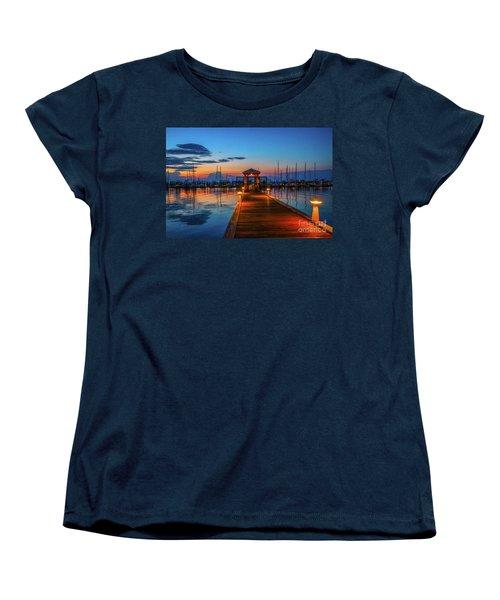 Marina Sunrise Women's T-Shirt (Standard Cut) by Tom Claud