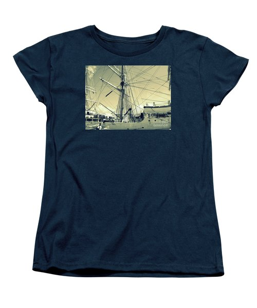 Maritime Spiderweb Women's T-Shirt (Standard Cut) by Susan Lafleur
