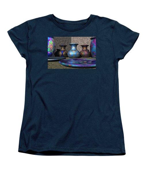 Marrakesh Open Air Market Women's T-Shirt (Standard Cut) by Lyle Hatch