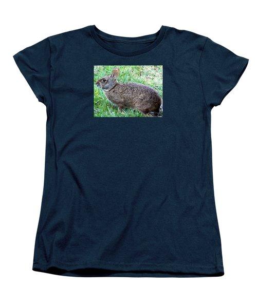 Marsh Rabbit Run Rabbit  Women's T-Shirt (Standard Cut) by Chris Mercer