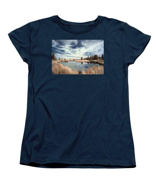Marshlands In Washington Women's T-Shirt (Standard Cut) by Jon Glaser