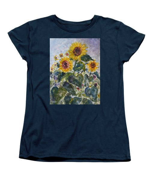 Martha's Sunflowers Women's T-Shirt (Standard Cut) by Quin Sweetman