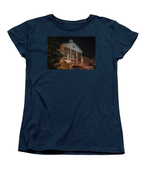 Women's T-Shirt (Standard Cut) featuring the photograph Martin Hall Night 01 by Gregory Daley  PPSA