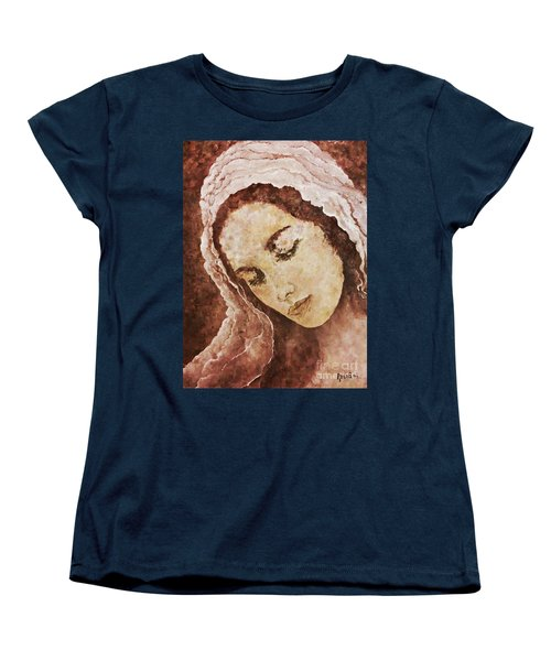 Mary Mother Of Jesus Women's T-Shirt (Standard Cut) by AmaS Art