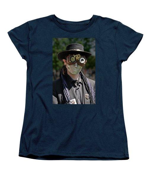 Masked Man - Steampunk Women's T-Shirt (Standard Cut) by Betty Denise