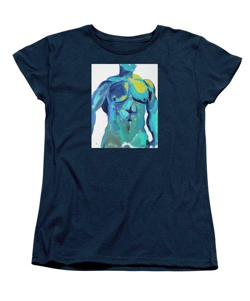 Massive Hunk Blue-green Women's T-Shirt (Standard Cut) by Shungaboy X