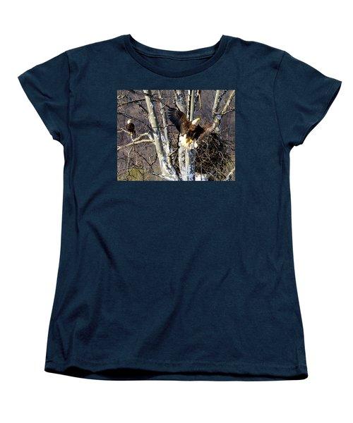 Women's T-Shirt (Standard Cut) featuring the photograph Mating Pair At Nest by Randall Branham