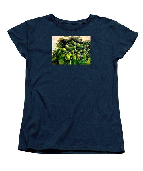 Women's T-Shirt (Standard Cut) featuring the painting Matoa Fruit by Jason Sentuf