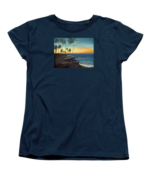 Women's T-Shirt (Standard Cut) featuring the painting Maui by Carol Sweetwood