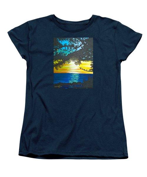 Maui Sunset Women's T-Shirt (Standard Cut) by Donna Blossom