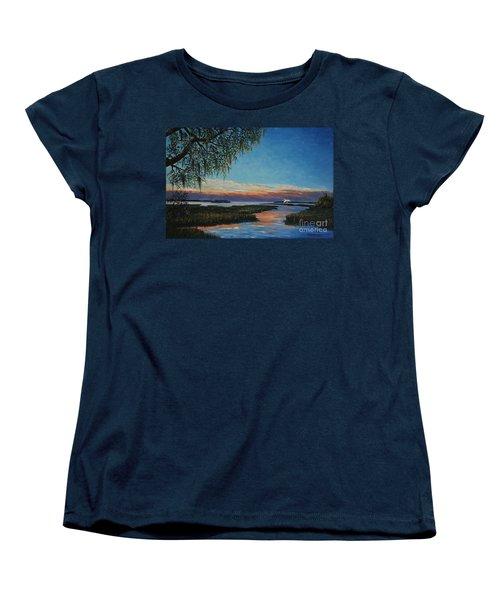 May River Sunset Women's T-Shirt (Standard Cut) by Stanton Allaben