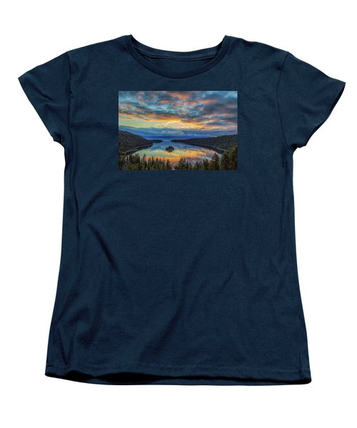 May Sunrise At Emerald Bay Women's T-Shirt (Standard Cut) by Marc Crumpler