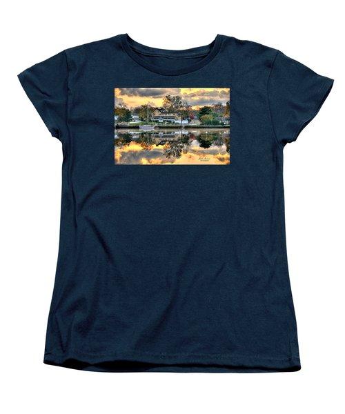 Mays Landing Morning Women's T-Shirt (Standard Cut) by John Loreaux