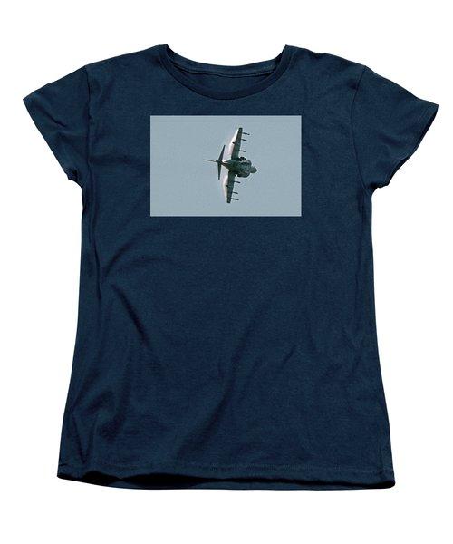 Mcdonnell-douglas Av-8b Harrier Buno 164119 Of Vma-211 Turning Mcas Miramar October 18 2003 Women's T-Shirt (Standard Cut) by Brian Lockett