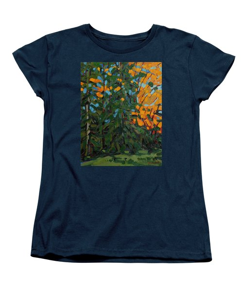 Mcmichael Forest Wall Women's T-Shirt (Standard Cut) by Phil Chadwick
