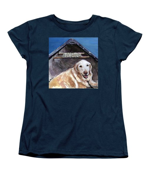 Women's T-Shirt (Standard Cut) featuring the painting Me You Canoe by Molly Poole